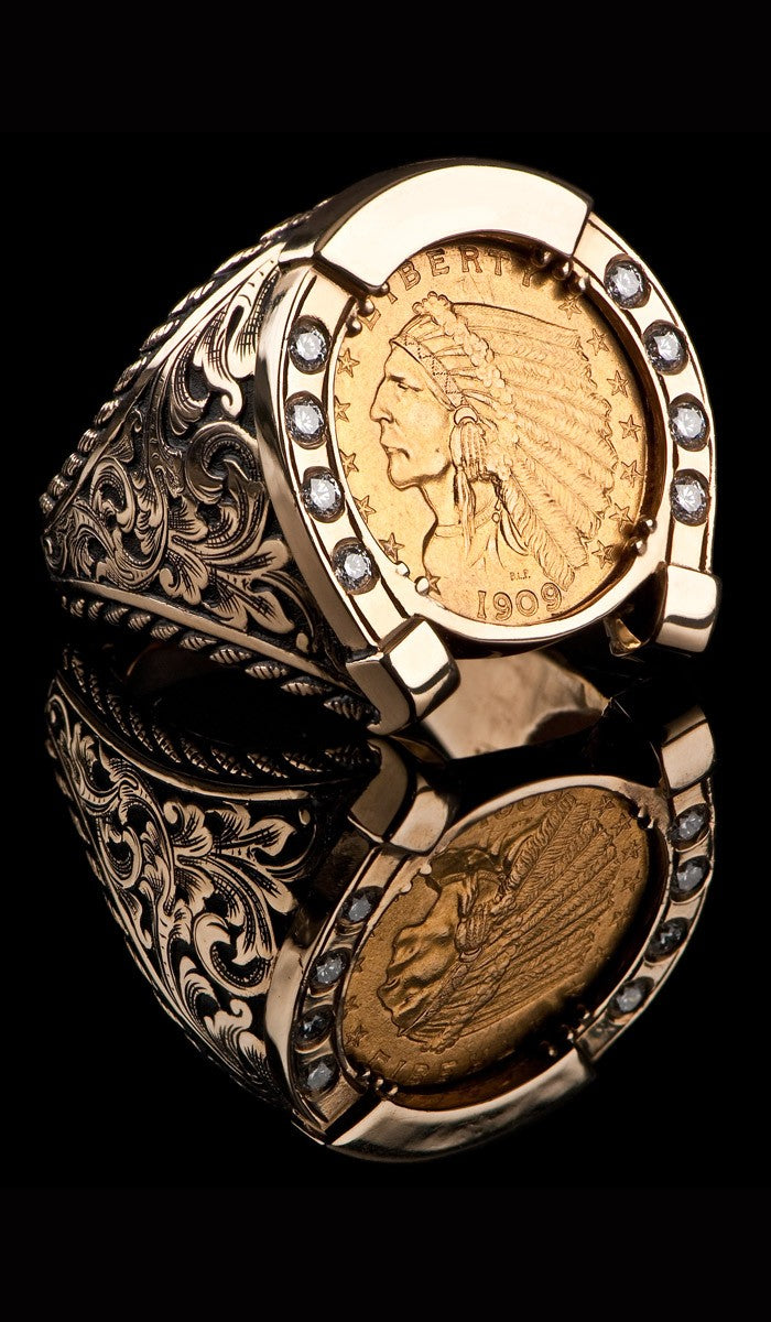 1909 Indian Head Horse Shoe Ring CR-601