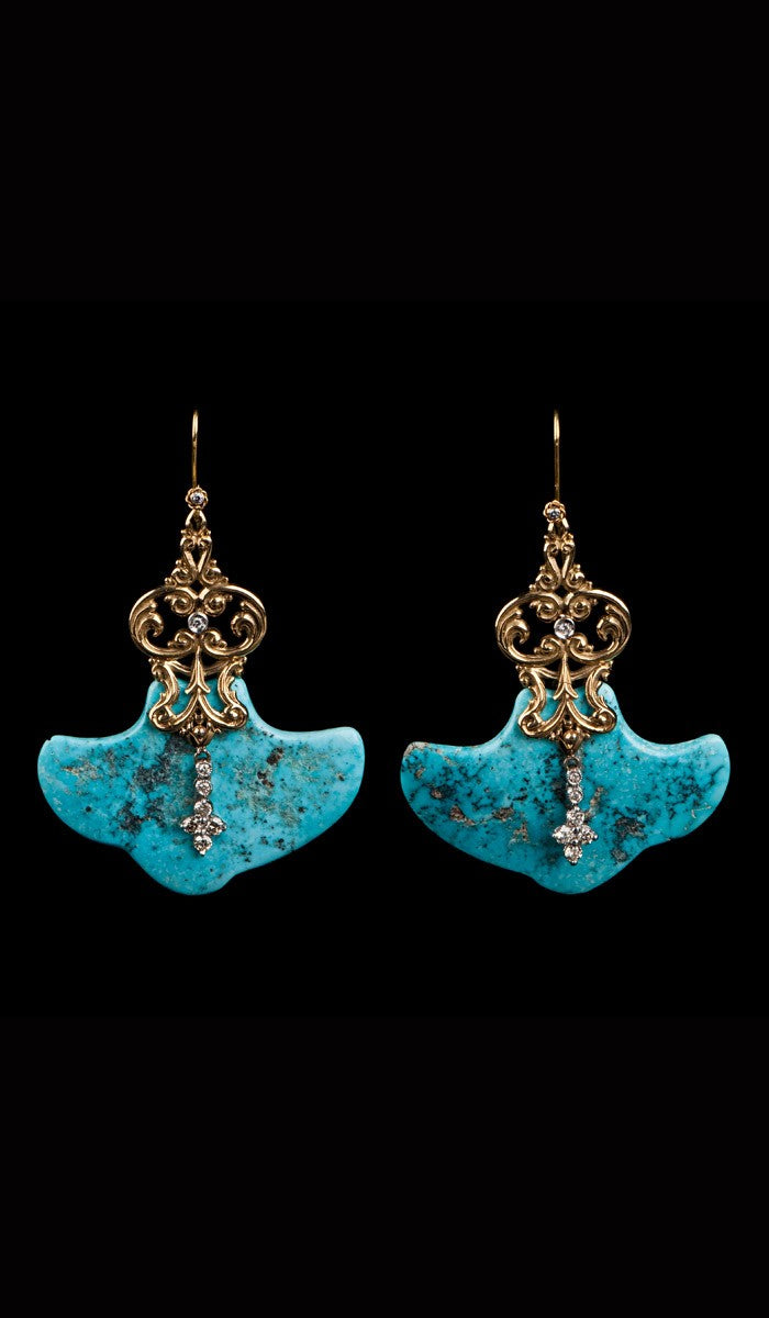 Turquoise Earrings TE-304