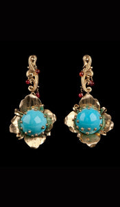Gold and Turquoise Earrings TE-301