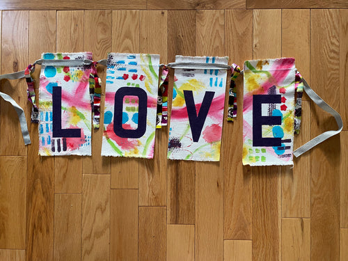LOVE prayer flags - I