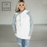 Autumn Winter Patchwork Women Sweatshirt Hooded