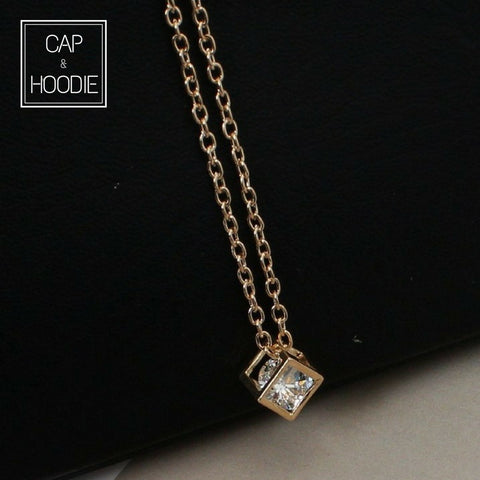 Square Crystal Necklaces