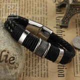 Weave Chain Wristband Leather Bracelet For Men