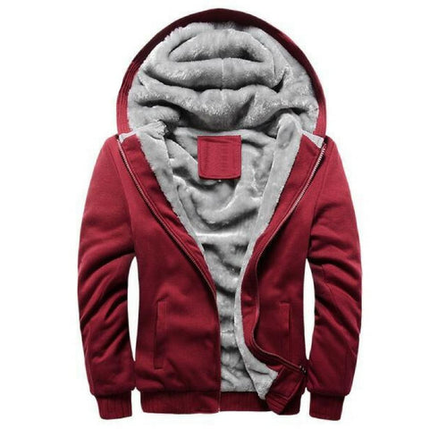 Casual Men Jacket Coat Warm Soft Hooded