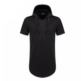 Men's Hipster Hip Hop Short Sleeve Hoodie T-Shirt