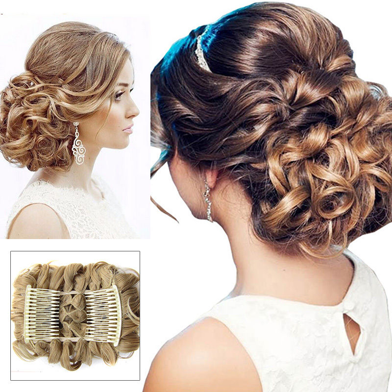 Begoniak Curly Comb Hair Extension Hairpiece Clip In Big Hair