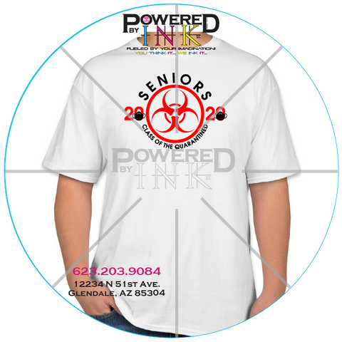 Seniors 2020 Bio-hazard Quarantined Tee