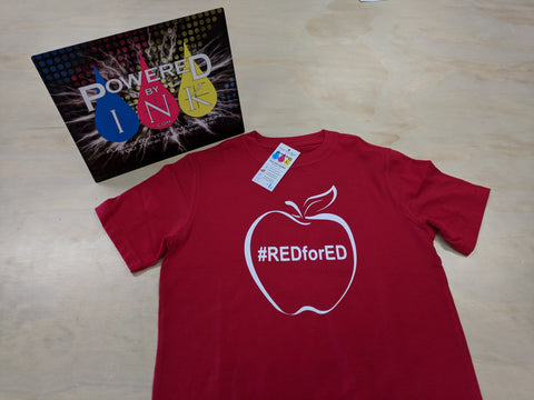 Red for Ed t-shirt ~ Teacher support tee ~ support education