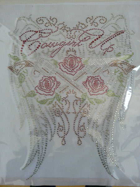 Cowgirl Up**Wings** Roses**Pistols** Rhinestone Transfer **BLING** clearance **