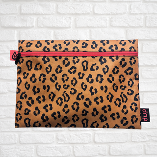 leopard tidy tote closed