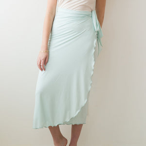 Everywear Long Wrap Skirt