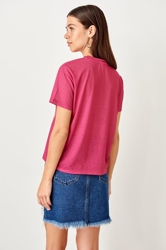Camiseta Top Color Rosa