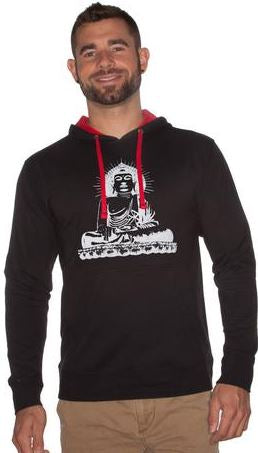 Mens/Unisex Buddha French Terry Fleece Hoodie