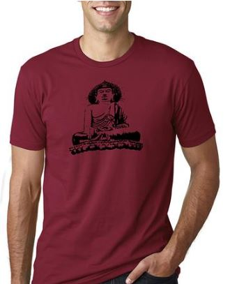 Mens Buddha Fitted Tee