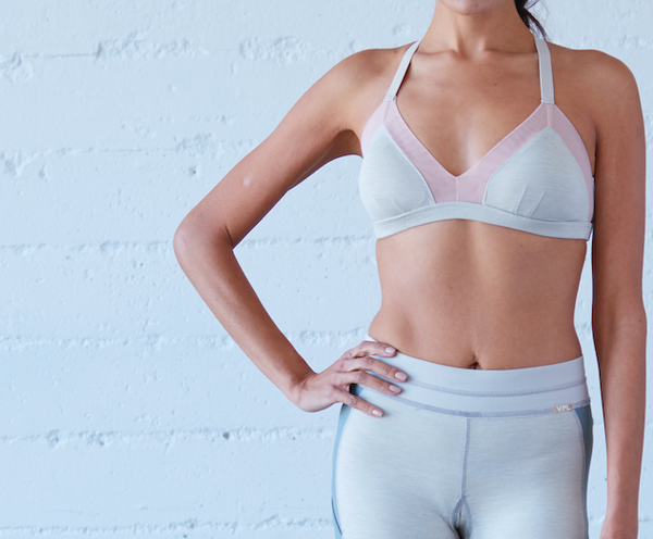 Ecru/Blush Yoga/Swim Bra