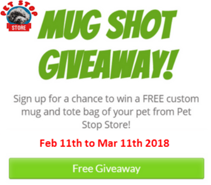 Pet Stop Store Mug Shot Giveaway