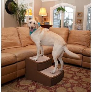 Pet Gear Easy Step Ii Extra Wide Pet Stairs - Chocolate