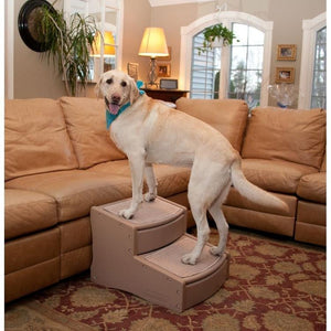 Pet Gear Easy Step Ii Extra Wide Pet Stairs - Tan