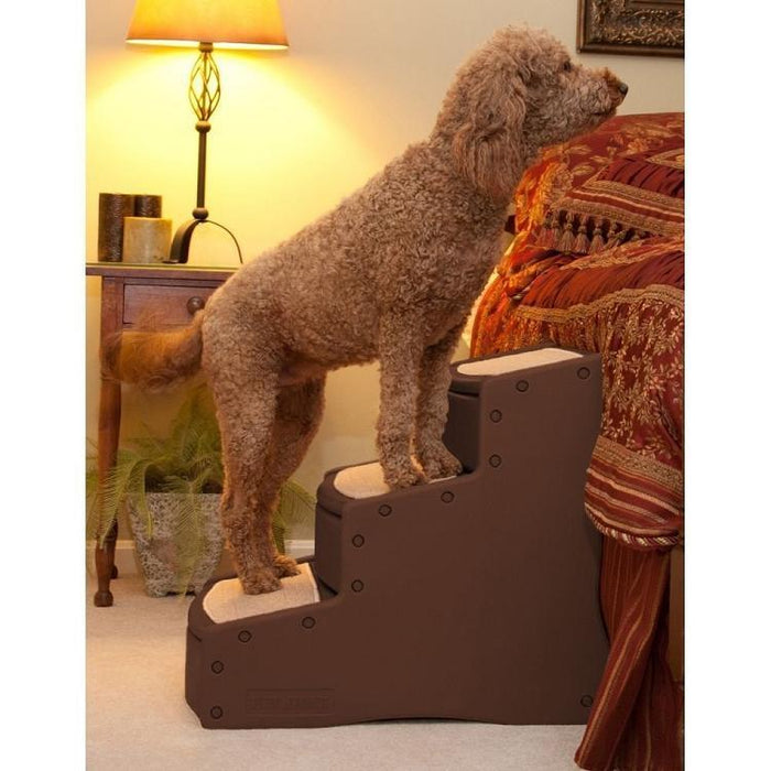 Easy Step Iii Extra Wide Pet Stairs - Chocolate