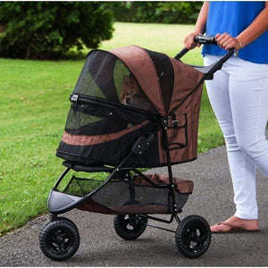 Pet Gear Special Edition No-zip Pet Stroller - Chocolate