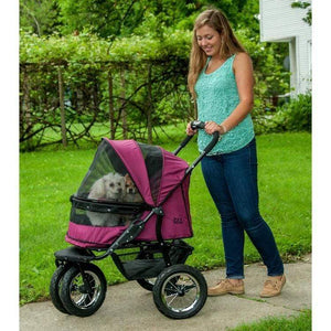 Pet Gear No-zip Double Pet Stroller - Boysenberry