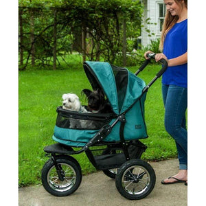 Pet Gear No-zip Double Pet Stroller - Pine Green