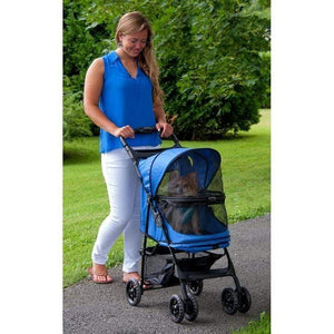Pet Gear Happy Trails No-zip Pet Stroller - Sapphire