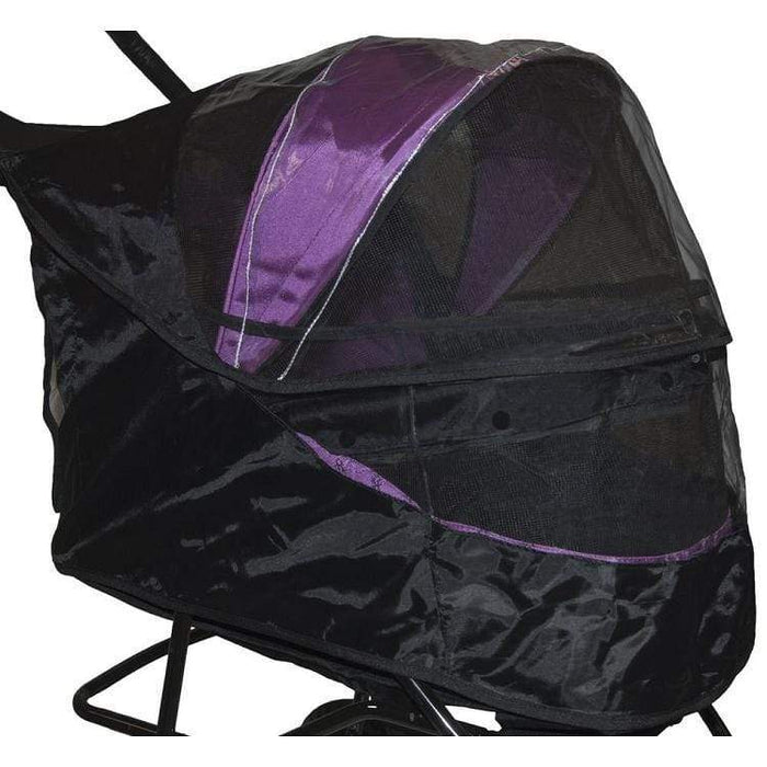 Weather Cover For Special Edition No-zip Pet Stroller - Black