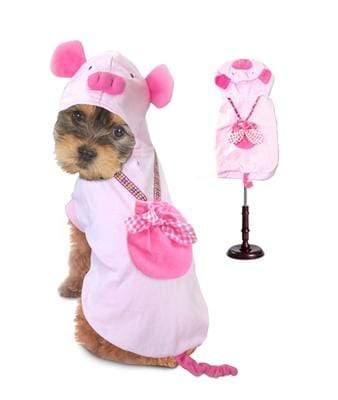 Playful Pink Satin  Halloween Pig Costume for Dogs