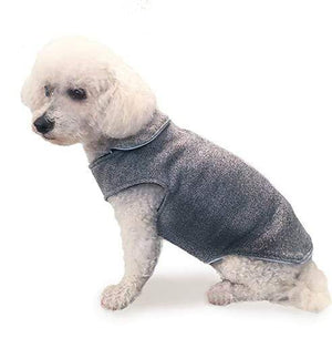 Pet Stop Store 06 light gray Dark & Light Dog Sweater Coat All Sizes