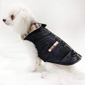 Pet Stop Store 08 black Brown & Black Puffer Dog Coats with Pockets