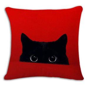 Pet Stop Store 1 / 45x45cm Fun & Playful Decorative Cat Lovers Pillow Covers