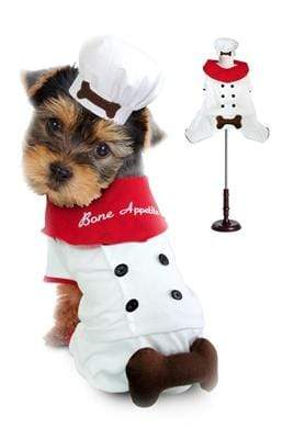 Pet Stop Store 1 Bone Appetit Dog Chef Halloween Costume