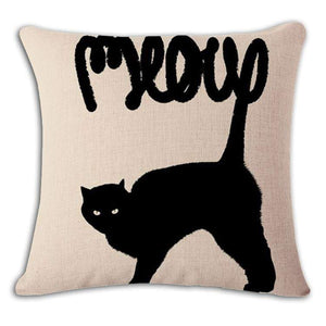 Pet Stop Store 10 / 45x45cm Fun & Playful Decorative Cat Lovers Pillow Covers