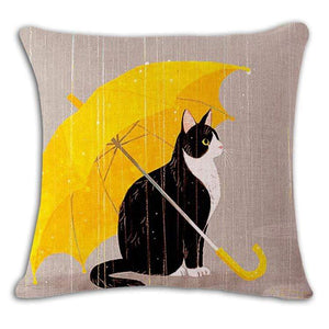 Pet Stop Store 11 / 45x45cm Fun & Playful Decorative Cat Lovers Pillow Covers