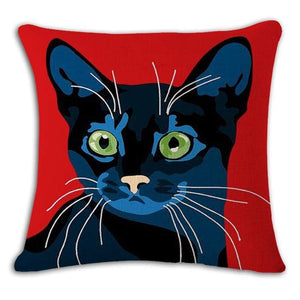 Pet Stop Store 13 / 45x45cm Fun & Playful Decorative Cat Lovers Pillow Covers
