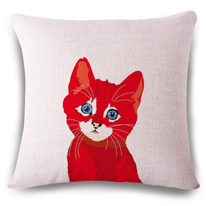 Pet Stop Store 14 / 45x45cm Fun & Playful Decorative Cat Lovers Pillow Covers