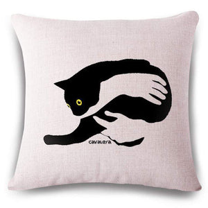 Pet Stop Store 15 / 45x45cm Fun & Playful Decorative Cat Lovers Pillow Covers
