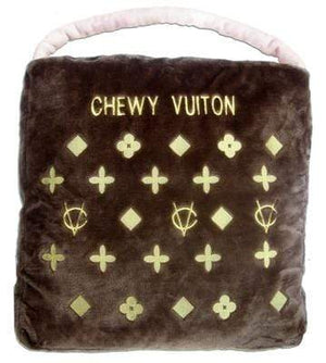 Pet Stop Store 15% OFF Chic Plush Gold & Brown Chewy Vuiton Pet Bed
