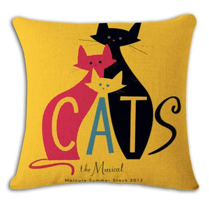 Pet Stop Store 2 / 45x45cm Fun & Playful Decorative Cat Lovers Pillow Covers