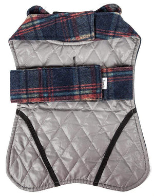 Pet Stop Store 2-in-1 Tartan Plaid Dog Jacket & Matching Reversible Dog Mat