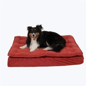 Pet Stop Store 27x34x4 Red Bed Luxury Pillow Top Mattress Dog Bed