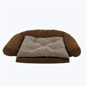 Pet Stop Store 32x47 Chocolate Bed Ortho Sleeper Comfort Dog Couch w/ Removable Cushion