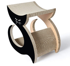 Pet Stop Store Purresque Designer Unique Cat Scratcher & Lounger