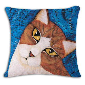 Pet Stop Store 4 / 45x45cm Fun & Playful Decorative Cat Lovers Pillow Covers
