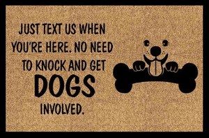 Pet Stop Store 40x60cm - $28.99 Just Text Us When You're Here. No Need to Knock and Get the Dogs Involved doormat