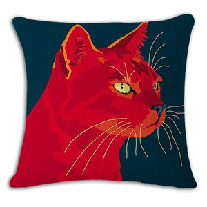 Pet Stop Store 5 / 45x45cm Fun & Playful Decorative Cat Lovers Pillow Covers