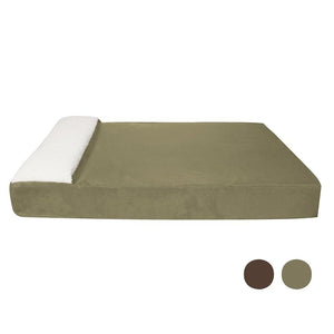 "Pet Stop Store 50""w x 34""d x 6 3/4""h Sage Oversized Large Pet Lounger Bed"