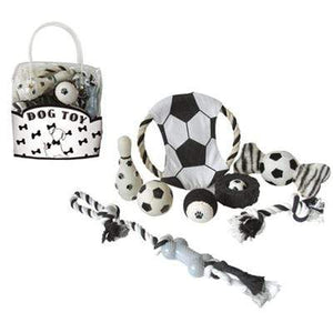 Pet Stop Store Black & White Toy Gift Set for Dogs