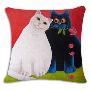 Pet Stop Store 6 / 45x45cm Fun & Playful Decorative Cat Lovers Pillow Covers